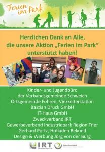"""Plakat """"Ferien im Park"""""""