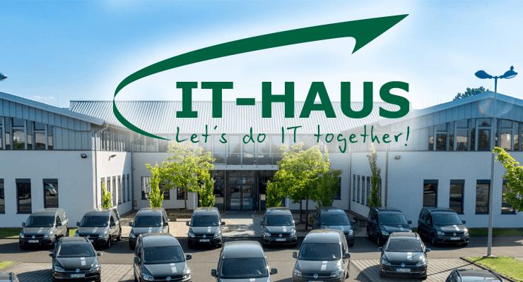 Logo und Firmengebäude: IT-Haus